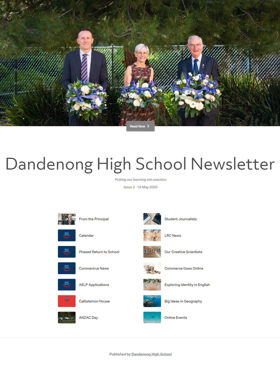 DHS Newsletter Term 2 May 2020