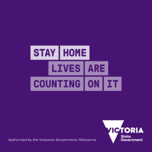 Stay home - lives are counting on it