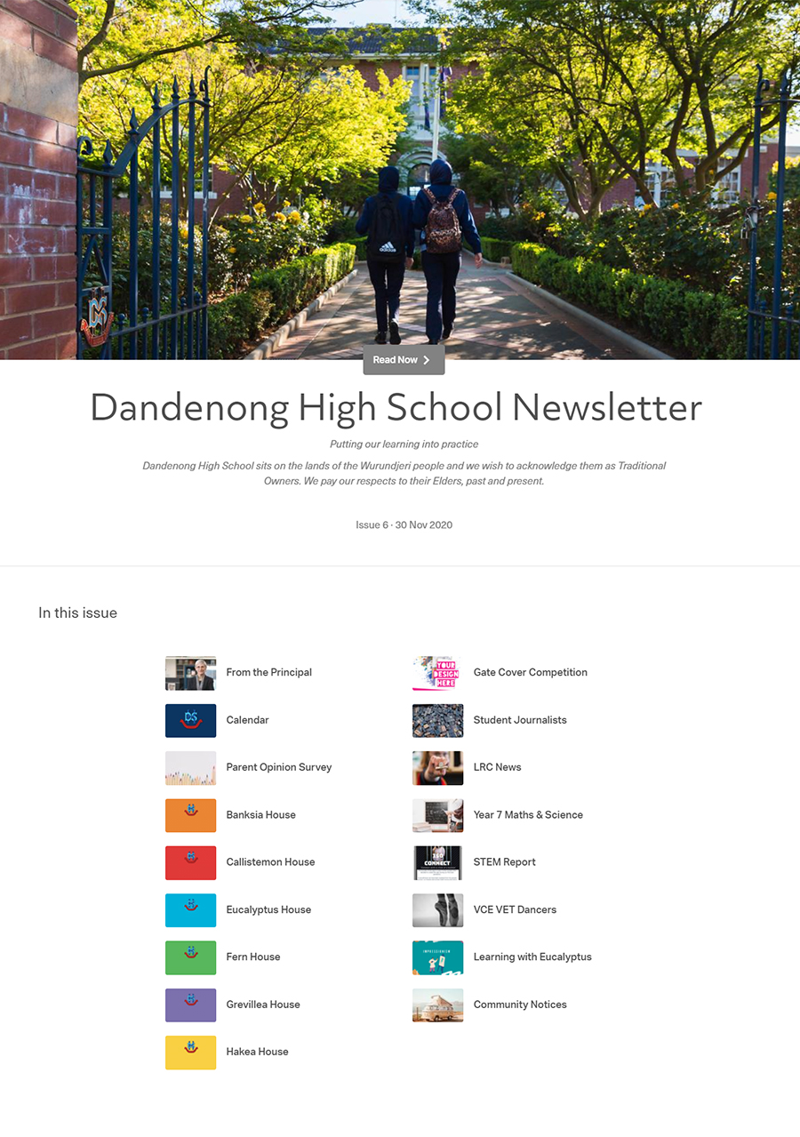 Dandenong High School Newsletter - Term 4, Issue 6