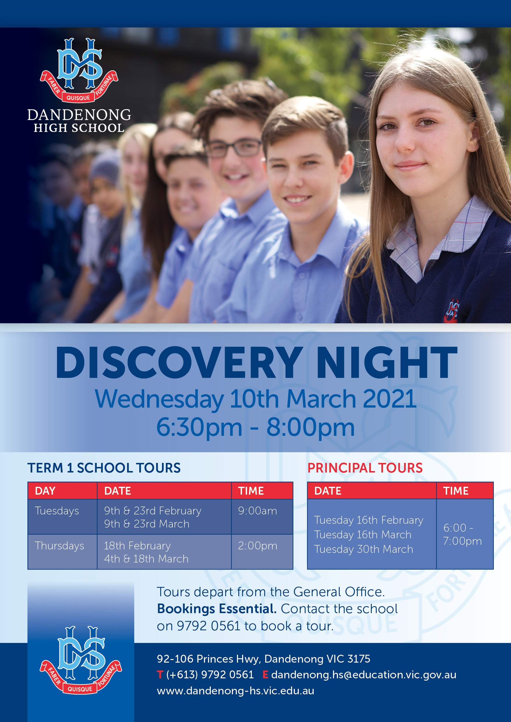 Dandenong High School Discovery Night - 10th March 2021